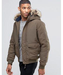 Jack Wills   Pateley Down Bomber Detachable Faux Fur Trim