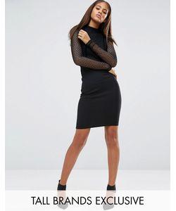 NaaNaa Tall | Облегающее Платье С Топом Из Сеточки