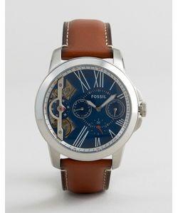 Fossil | Часы Со Светло-Коричневым Кожаным Ремешком Me1161 Grant