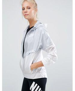 Nike | Серо-Белая Ветровка На Молнии