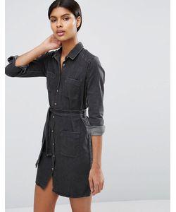 Asos | Джинсовое Платье-Рубашка С Поясом