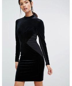 Y.A.S. | Бархатное Облегающее Платье С Трикотажными Вставками Y.A.S Luvy