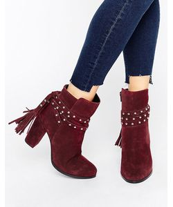 Faith   Bethany Tie Back Heeled Ankle Boots