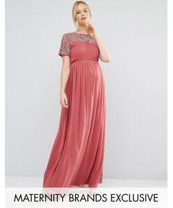 Maya Maternity | Платье Макси Для Беременных С Жемчужной Отделкой