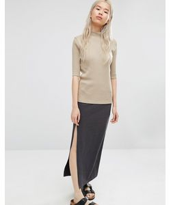 ADPT | Maxi Skirt With Asymmetric Side Slit
