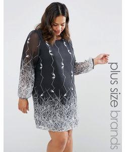 Yumi Plus   Цельнокройное Платье С Принтом