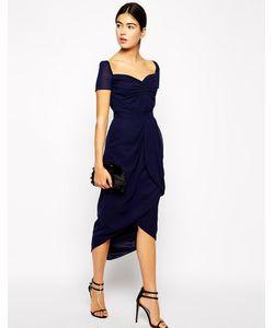 VLabel London | Платье Миди С Юбкой Тюльпан