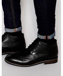Dune   Черные Кожаные Ботинки-Броги