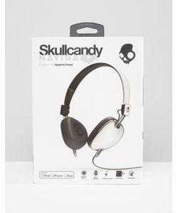 Skull Candy | Черно-Белые Наушники С Микрофоном Skullcandy Navigator