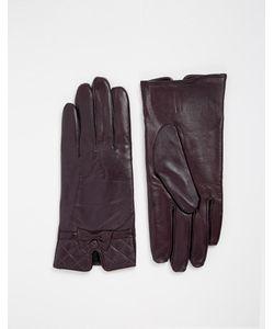 Totes   Кожаные Перчатки Со Стегаными Манжетами