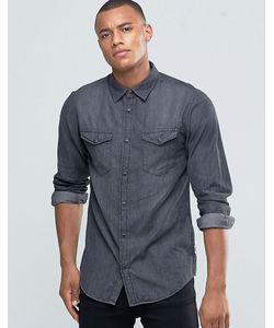 Jack & Jones   Джинсовая Рубашка На Кнопках С Двумя Карманами