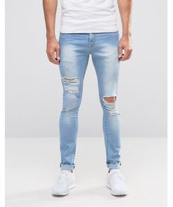 Brooklyn Supply Co. | Brooklyn Supply Co Ripped Light Wash Hunter Spray On Jeans With