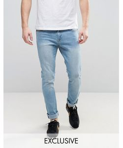 Brooklyn Supply Co. | Brooklyn Supply Co Light Wash Jeans With Knee Slit In Skinny