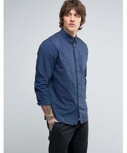 Hoxton Shirt Company | Рубашка Узкого Кроя Из Саржи С Начесом