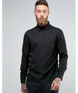 Hoxton Shirt Company | Рубашка Узкого Кроя Без Застежки