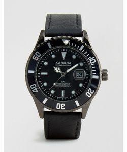 Kahuna | Часы С Черным Ремешком Из Искусственной Кожи