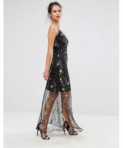 boohoo | Платье Макси С Отделкой Пайетками