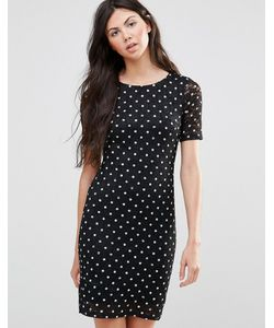 Yumi | Кружевное Платье В Горошек