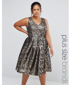 Chi Chi Plus | Chi Chi London Plus Jacquard Prom Dress