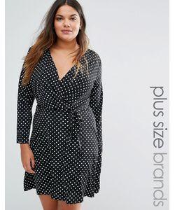 Yumi Plus | Платье В Горошек С Запахом