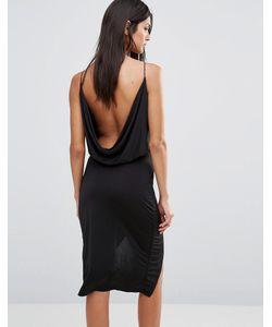 Club L | Платье С Запахом Спереди И Драпировкой Сзади