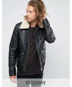 Black Phoenix | Flight Jacket Shearling Collar