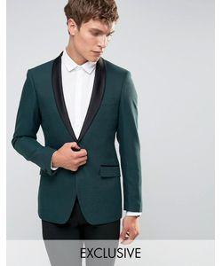 Number Eight Savile Row | Облегающий Пиджак Для Смокинга С Атласными Лацканами