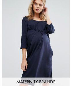 Mama Licious | Тканое Цельнокройное Платье С Завязкой Mamalicious