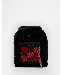 Hiptipico | Бархатный Рюкзак С Цветочным Карманом Foo Foo
