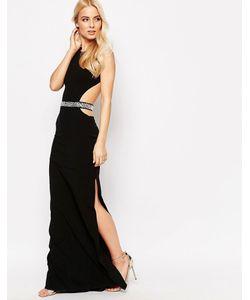 Sistaglam | Платье Макси С Поясом И Вырезами Blake
