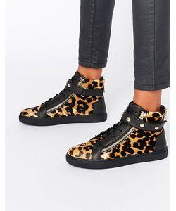 Juicy Couture | Высокие Кроссовки С Леопардовым Принтом