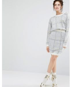 Willow and Paige | Oversize Check Mini Skirt Co-Ord