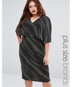 Club L | Платье Миди С Блестками И Кейпом Plus