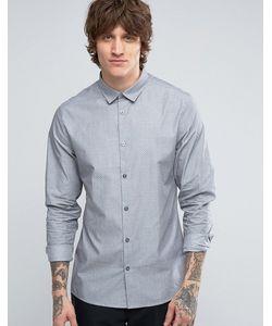 Hoxton Shirt Company | Рубашка Узкого Кроя С Принтом
