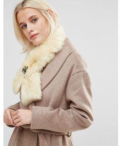 Alice Hannah | Gem Cross-Over Faux Fur Scarf