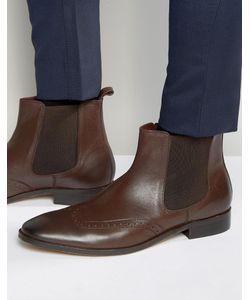 Dune | Кожаные Ботинки Челси С Отделкой Под Броги