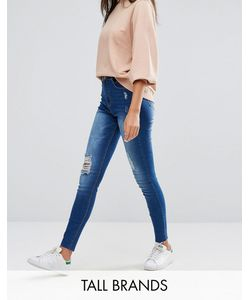 Missguided Tall | Sinner Highwaisted Distressed Skinny Jean