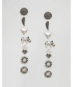 Cara Jewellery | Набор Сереггвоздиков С Разным Дизайном Cara Ny