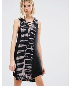 NYTT | Платье Мини С Принтом Тай-Дай И Завязкой Спереди Devorah