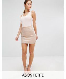 ASOS PETITE | Mini Skirt In Wet Look Pu