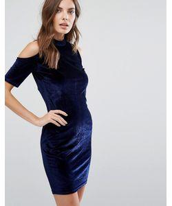 Qed London | Бархатное Облегающее Платье