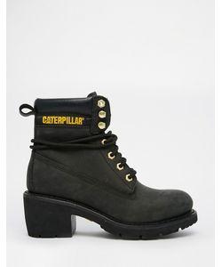 Cat Footwear | Черные Кожаные Ботильоны На Каблуке Ottawa