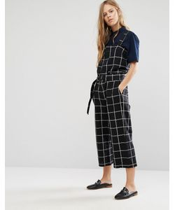 Shades of Grey | Checked Utility Jumpsuit