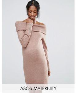 ASOS Maternity | Платье-Джемпер Для Беременных С Открытыми Плечами Asos