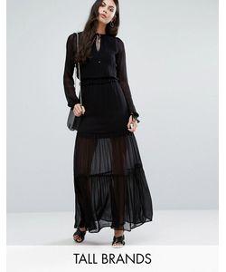 Vero Moda Tall | Ярусное Платье Макси