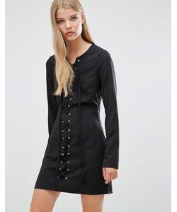 Madam Rage | Облегающее Платье С Кружевным Передом