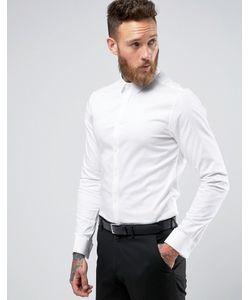 Asos | Сатиновая Рубашка Скинни С Двойными Манжетами