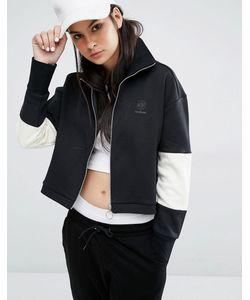 Reebok   Черная Спортивная Куртка С Высокой Горловиной И Логотипом Classics