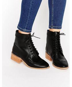 Asos | Кожаные Ботинки-Броги На Шнуровке Amar