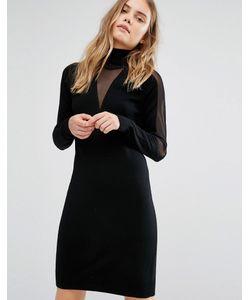 Gestuz | Трикотажное Платье С Прозрачными Вставками